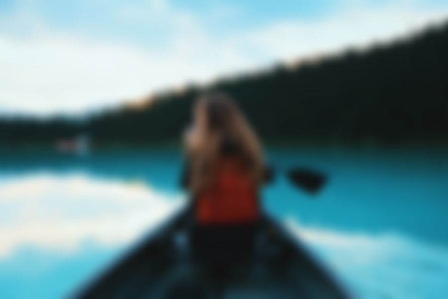 A blurry image about canoeing